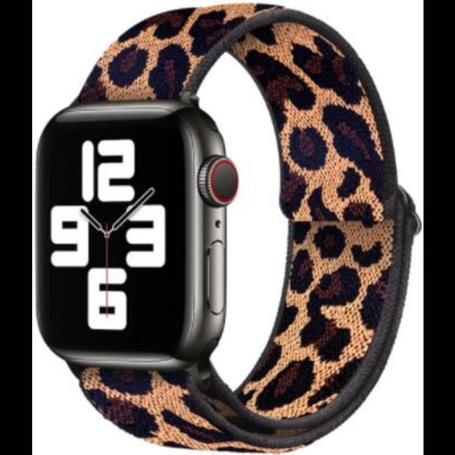 Apple watch tapis roulant sportivo in nylon - leopardo