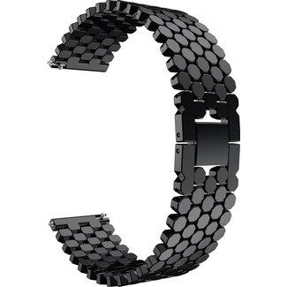 Marca 123watches Huawei GT pesce cinturino a maglie d'acciaio - nero