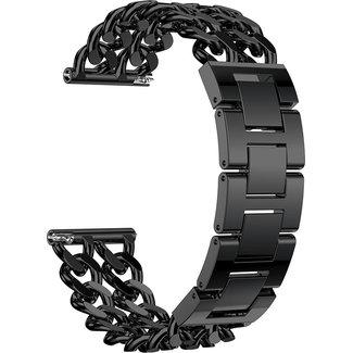 Marca 123watches Huawei GT cowboy cinturino a maglie d'acciaio - nero