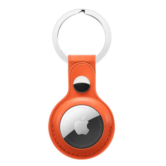 Marca 123watches AirTag PU cuoio portachiavi - arancione