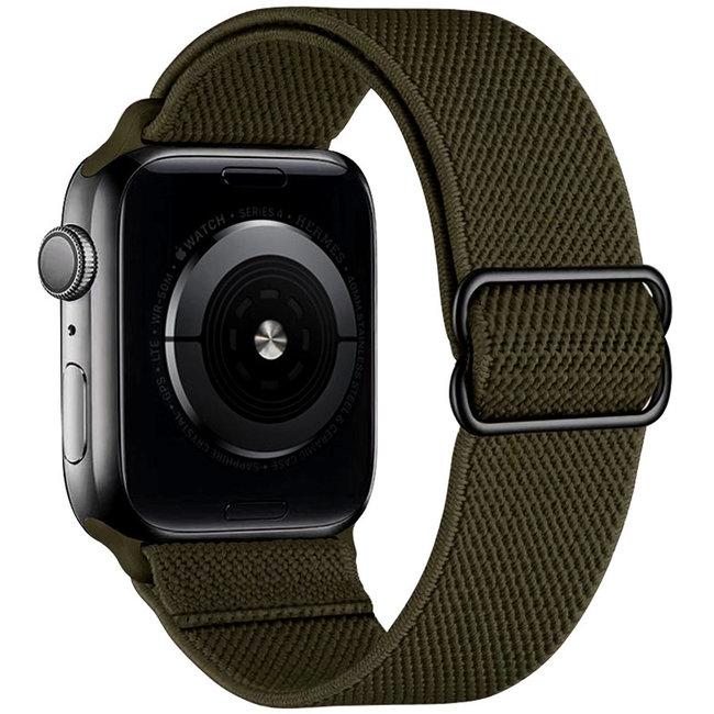 Apple watch tapis roulant solo in nylon - verde militare