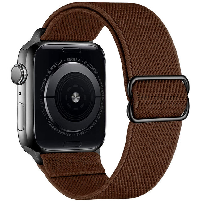 Apple watch tapis roulant solo in nylon - marrone