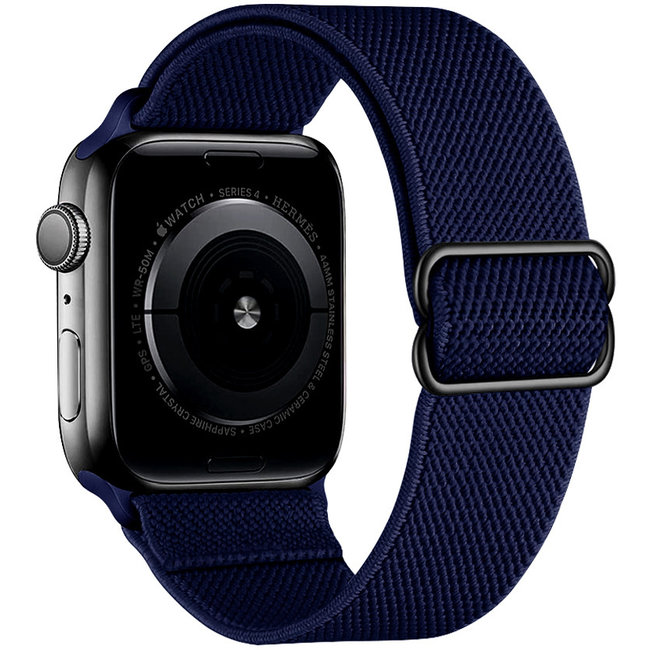 Apple watch tapis roulant solo in nylon - blu navy