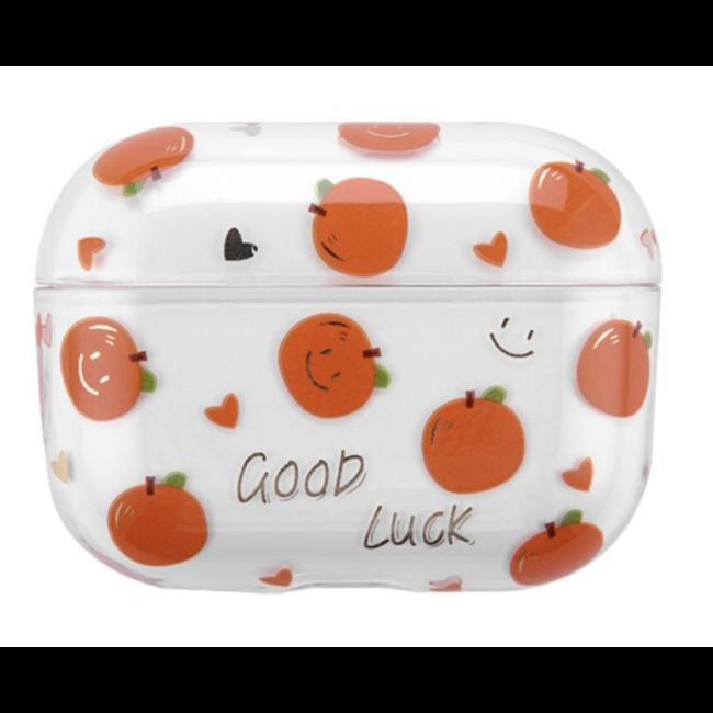 Apple AirPods PRO custodia rigida trasparente e divertente - arancia