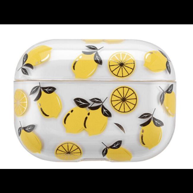 Apple AirPods PRO custodia rigida trasparente e divertente - limone