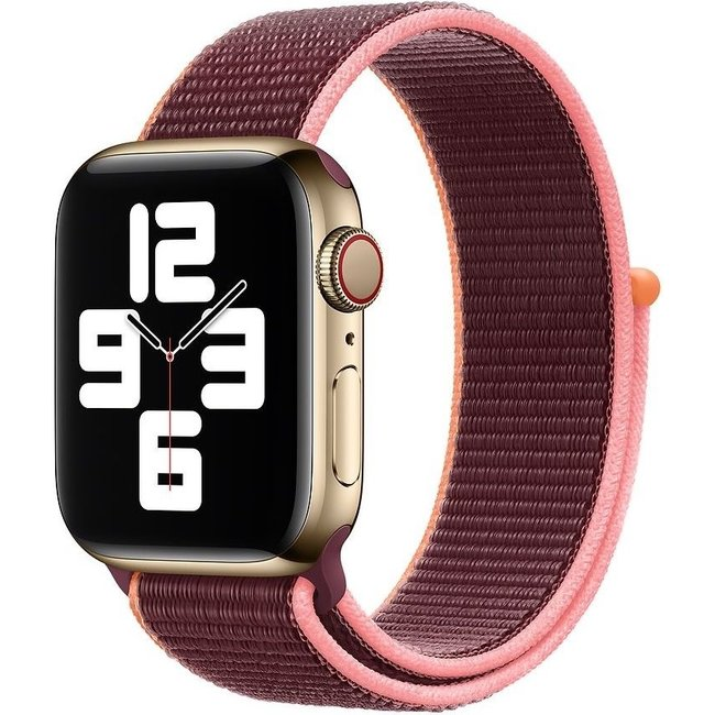 Apple watch tapis roulant sportivo in nylon - prugna