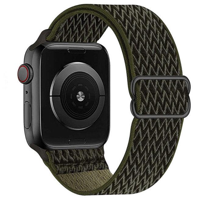 Apple watch cinturino solo in nylon - verde militare