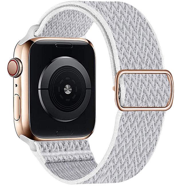 Apple watch cinturino solo in nylon - bianco riflettente