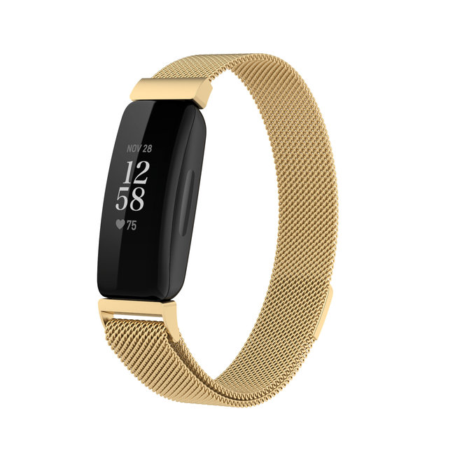 Fitbit Inspire 2 banda milanese - oro