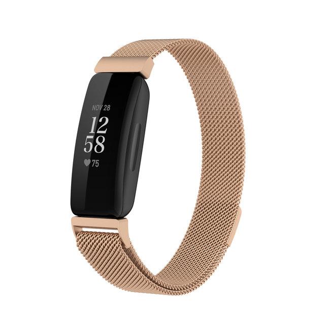 Fitbit Inspire 2 banda milanese - oro rosa