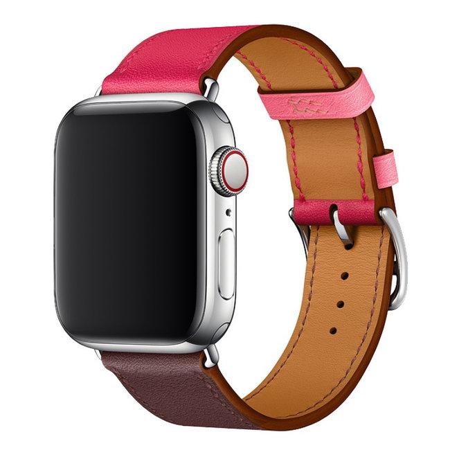 Apple Watch in pelle sing tour - rosa viola