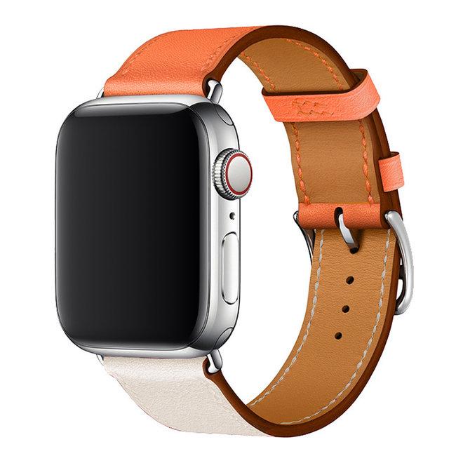 Apple Watch in pelle sing tour - arancione bianco