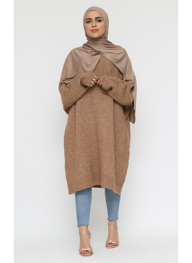 Comfy sweater XL -camel