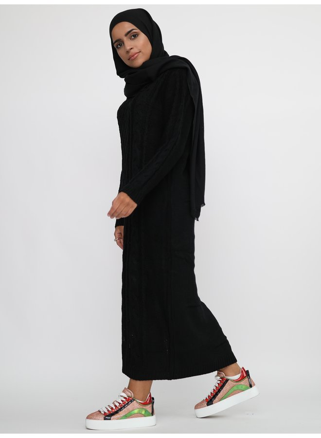 Sweater with pattern -black