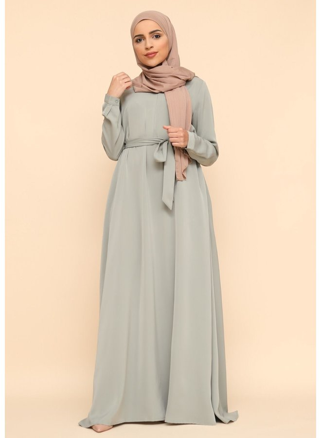 A-lijn abaya met rits -mintgroen
