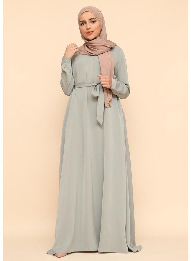 A-lijn zip abaya -mintgreen
