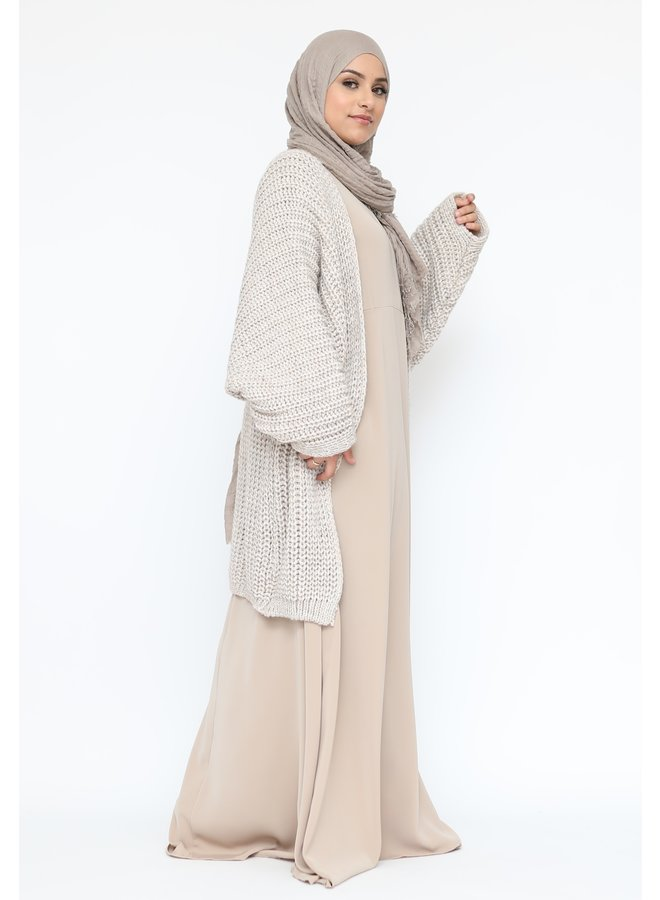 A-ligne abaya -beige