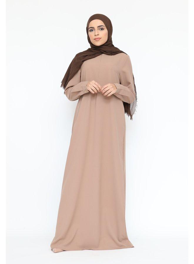 Basic abaya met rits -beige