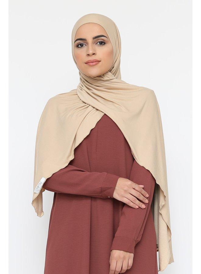 XL jersey sjaal -beige