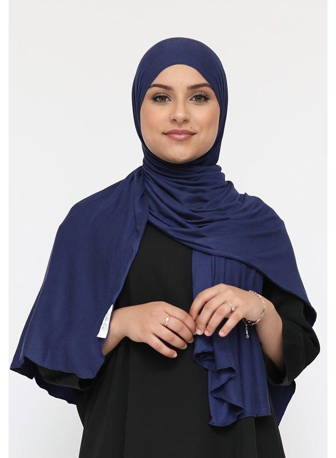 XL jersey sjaal -donkerblauw