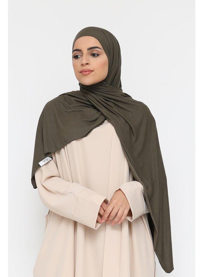 XL jersey scarf -armygreen