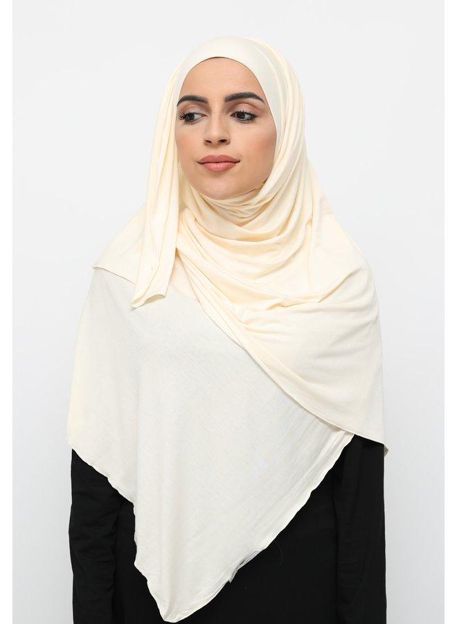 XL jersey scarf -vanille
