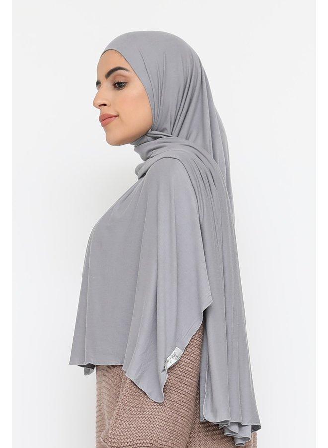 XL jersey sjaal -grijs