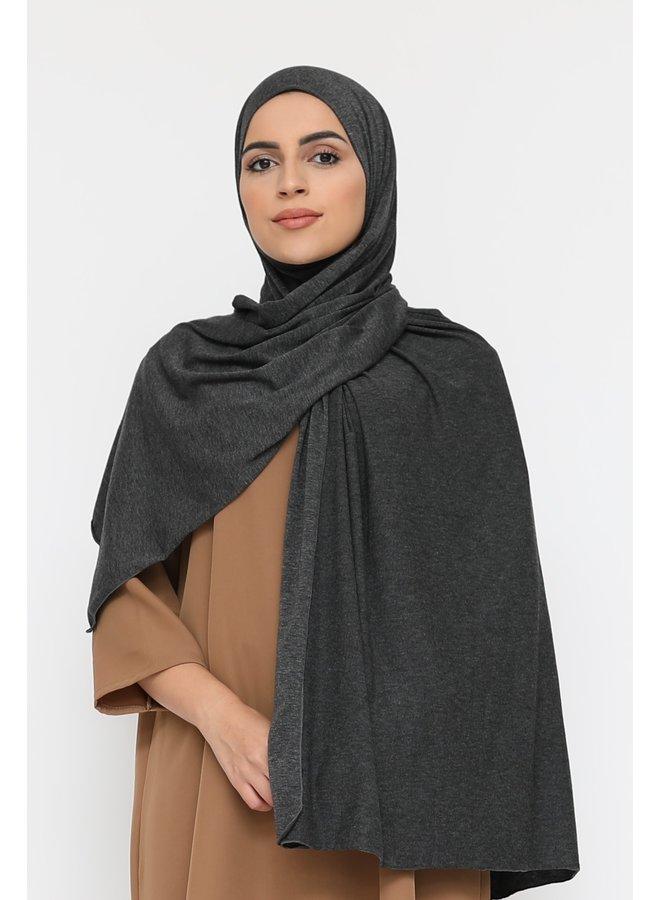 XL jersey sjaal -donkergrijs