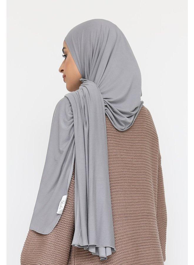 XL jersey scarf -gray