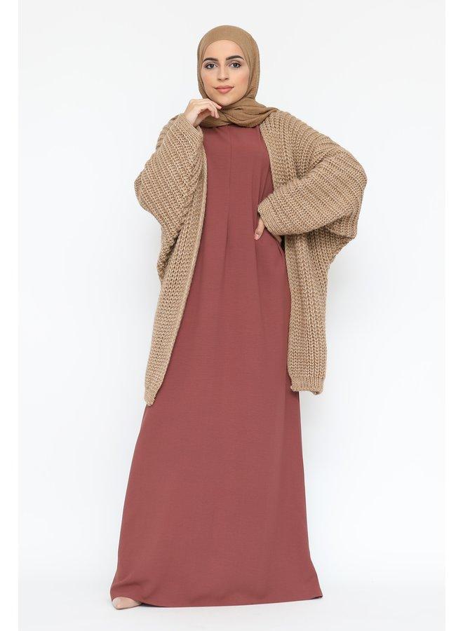 Oversized vest -camel