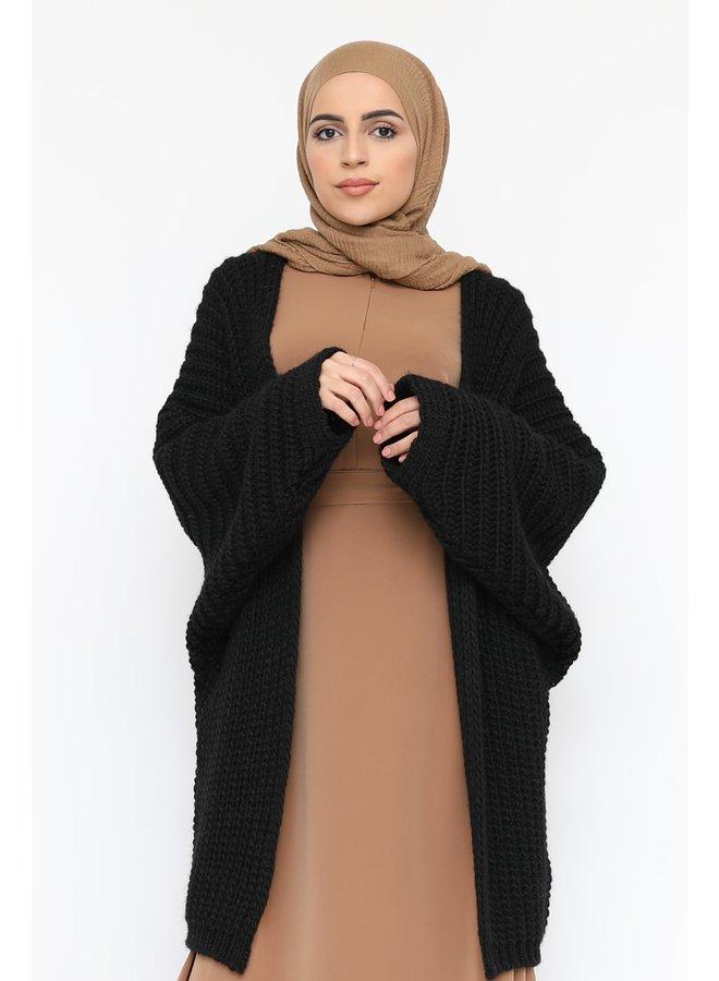 Oversized vest -zwart