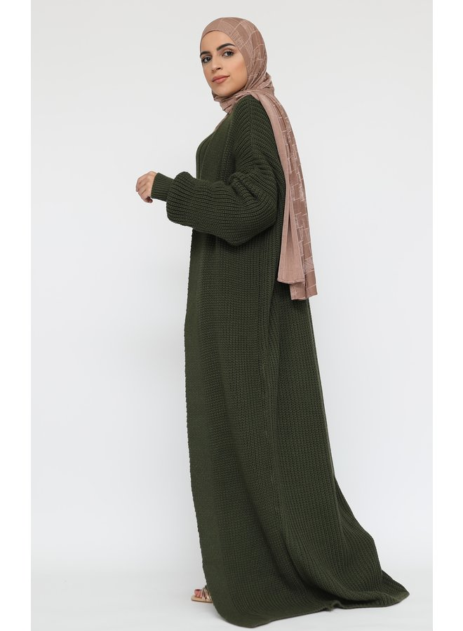 Long twinset with cardigan -armygreen