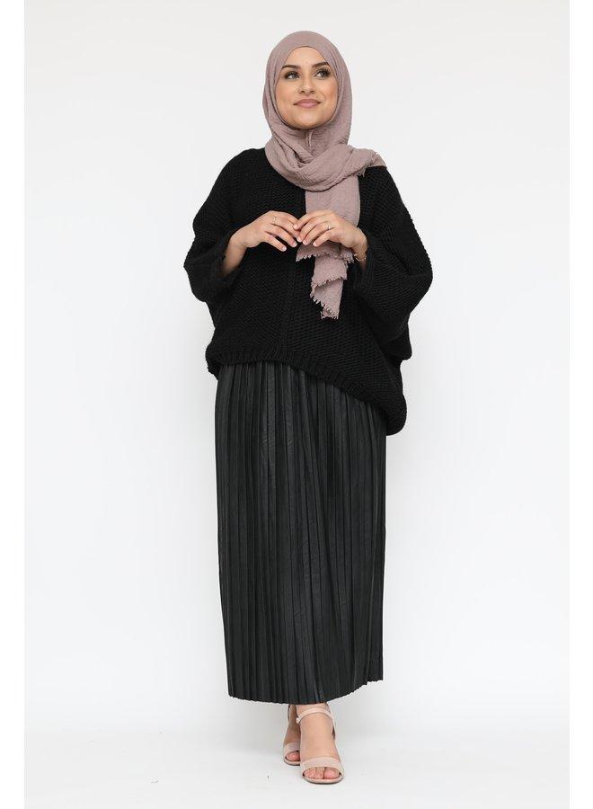 Oversized sweater v-neck  -black