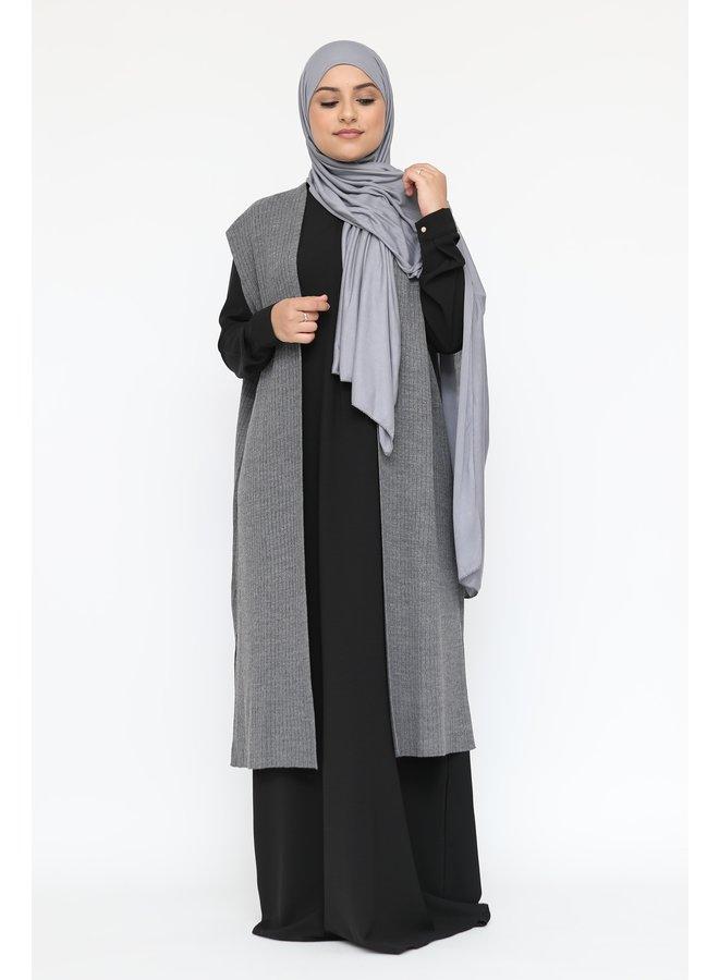 Sleeveless cardigan -gray