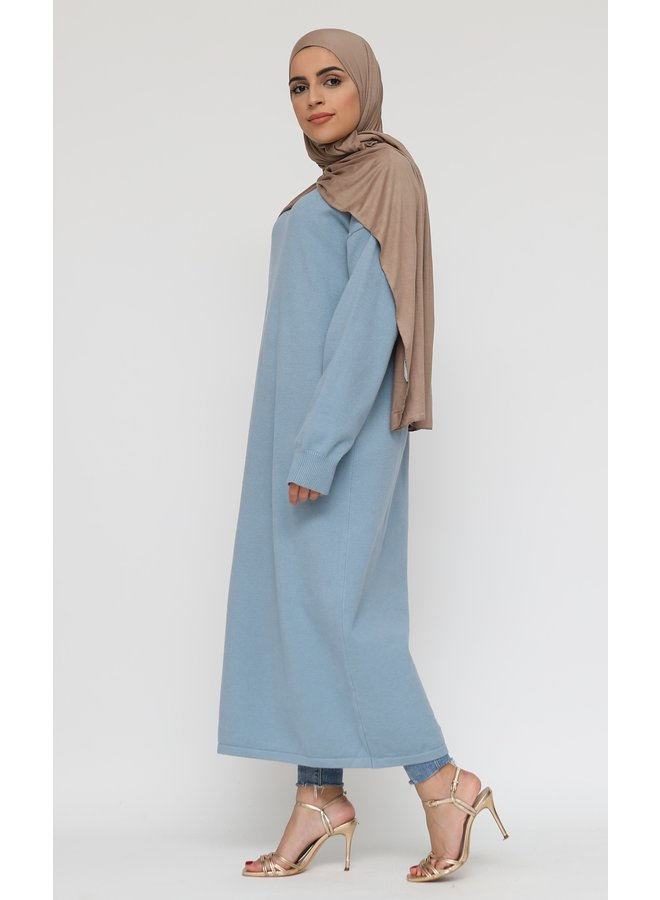 Basic long sweater -blue