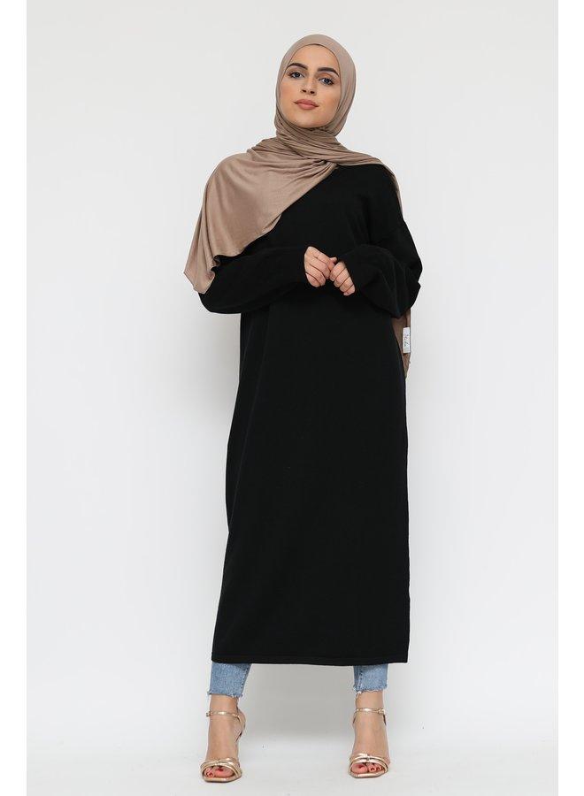 Basic long sweater -black