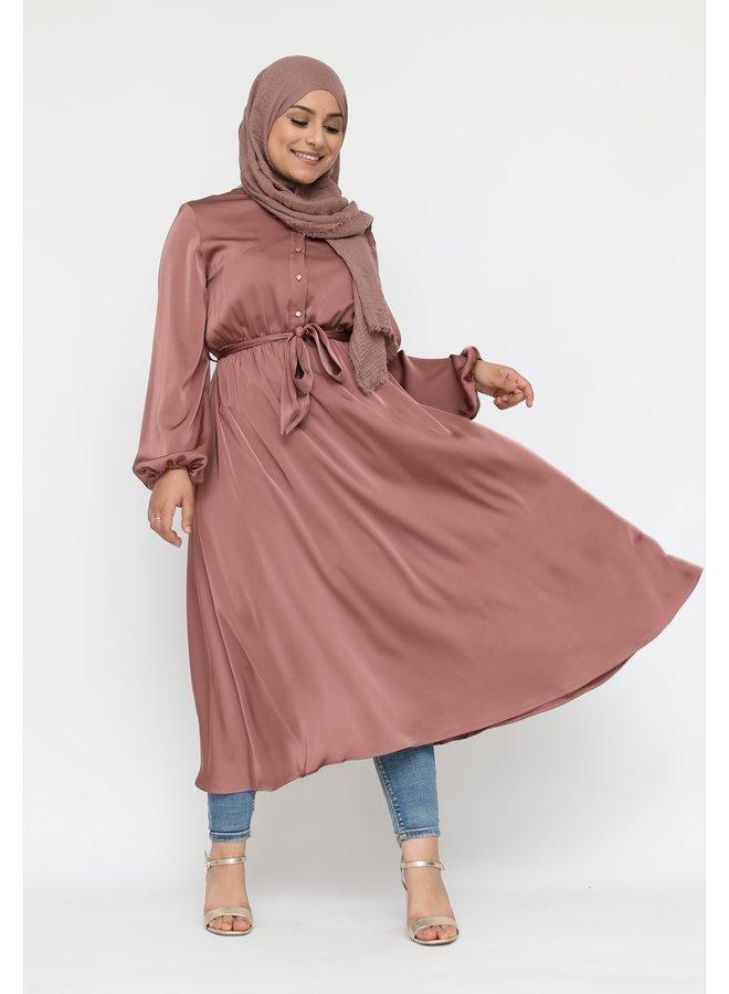Robe en satin - rose