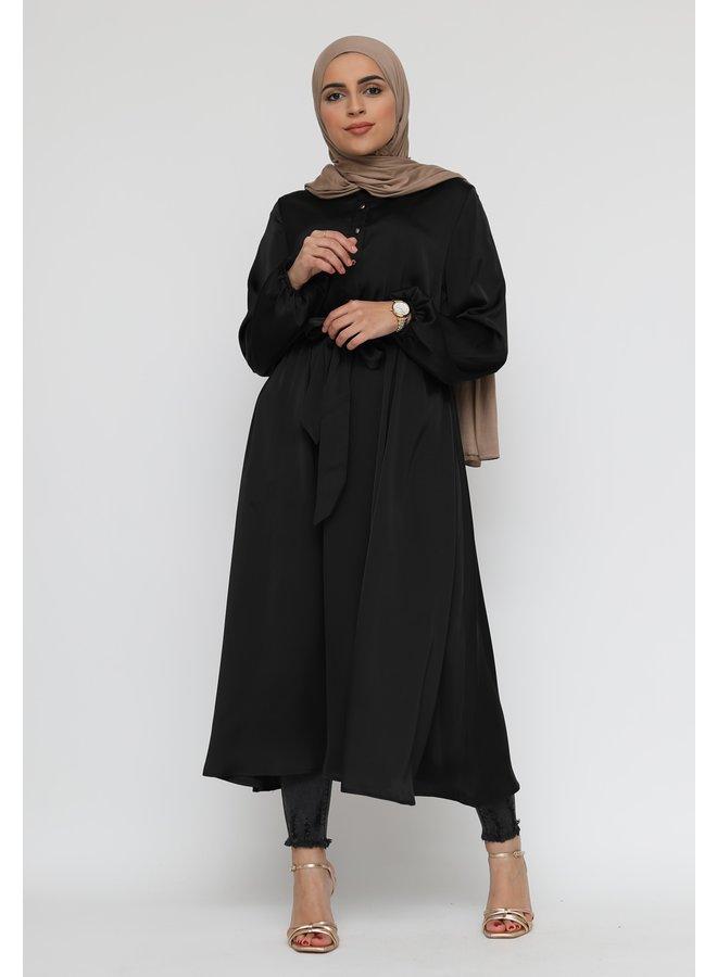 Robe en satin - noir