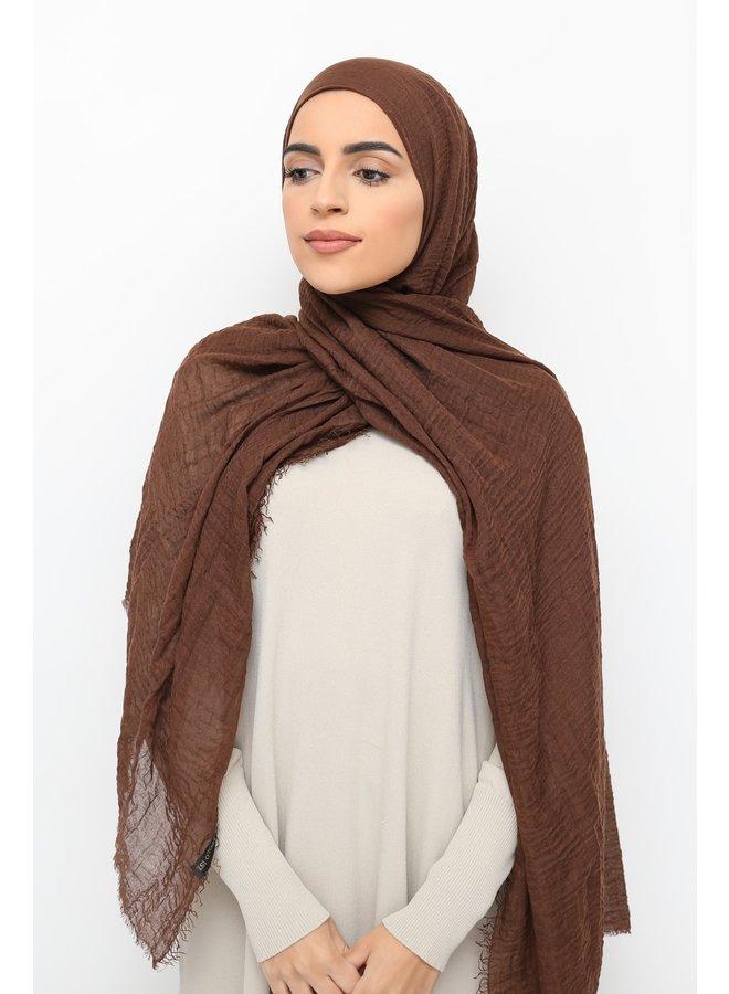 XL Skin hijaab - zalmroze