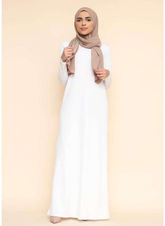 Robe longue -blanc