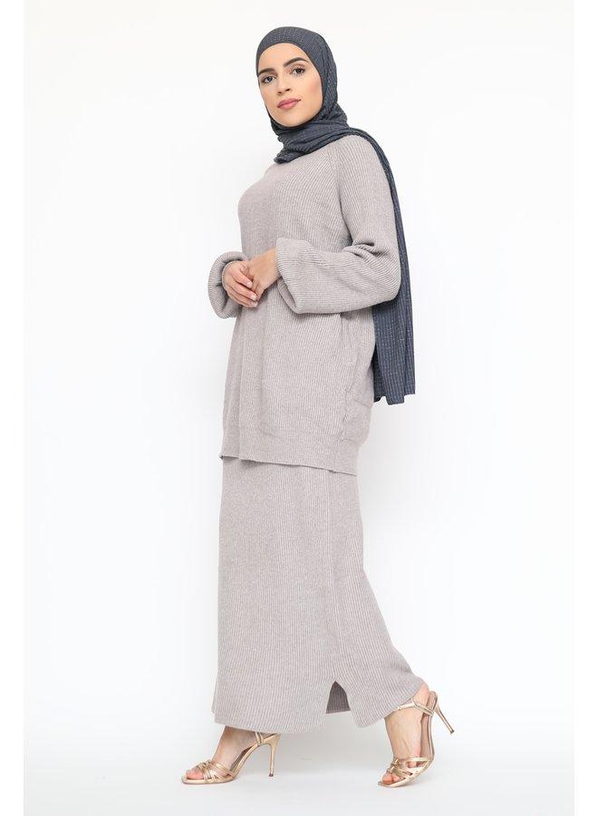 Classy ensemble avec jupe - taupe