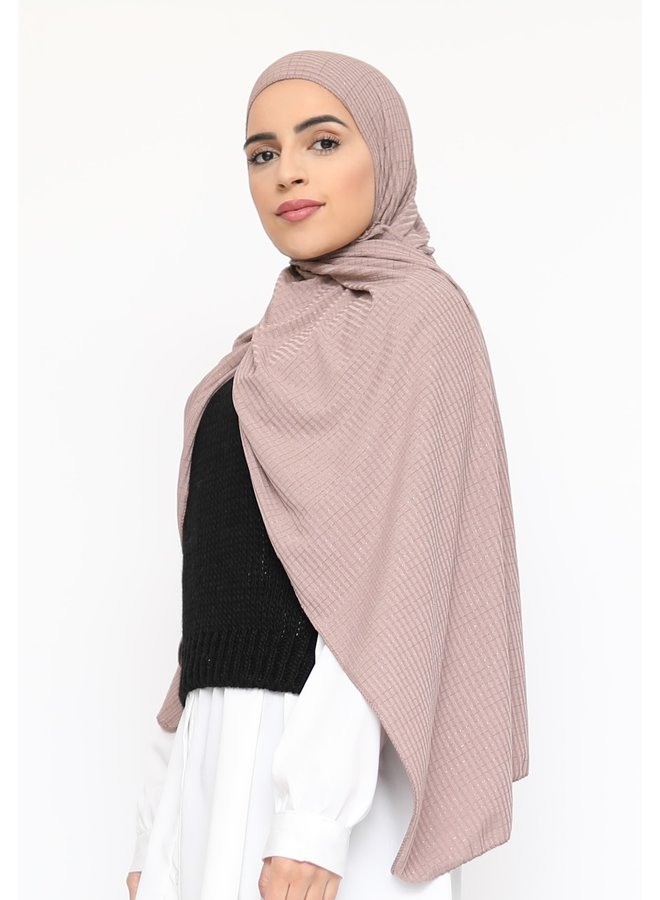 Scarf with glitter pattern - mauve