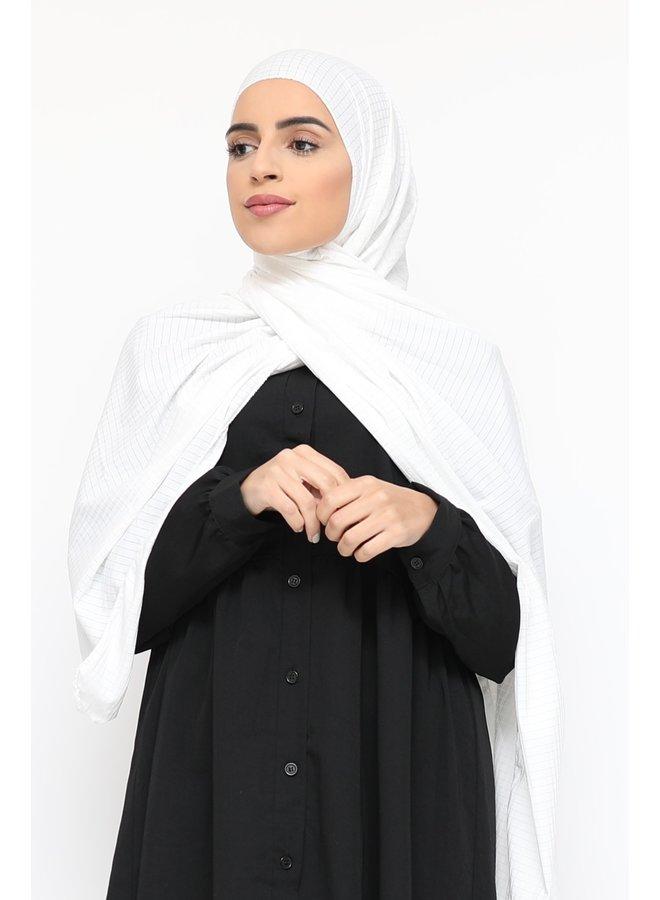 Sjaal met glitterpatroon - wit