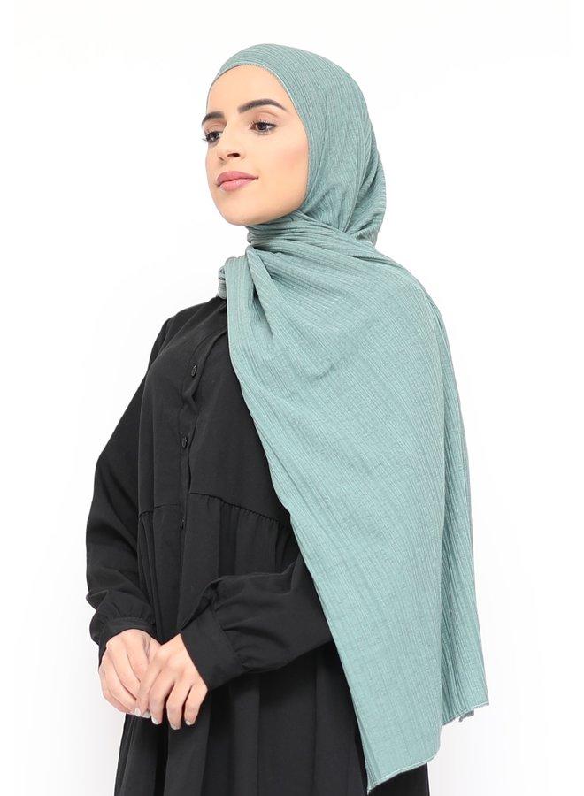 Stretch rib sjaal - mintgroen
