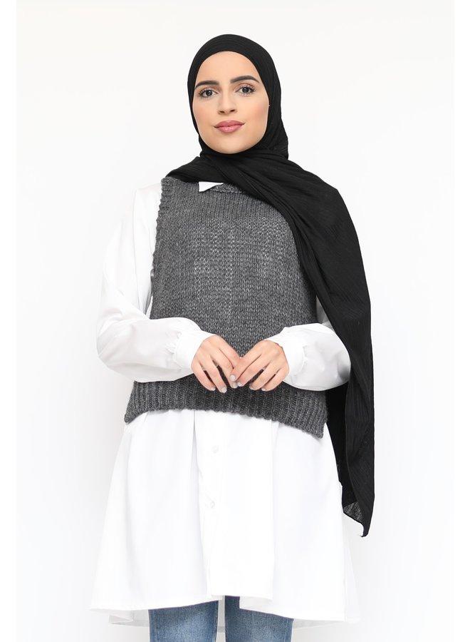 Woolen gilet - darkgray