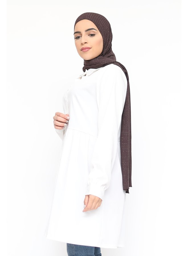 Tunic with buttons - white