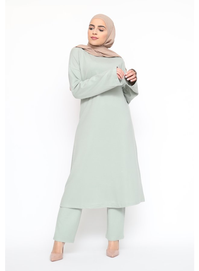 Comfy twinset with pants - mint