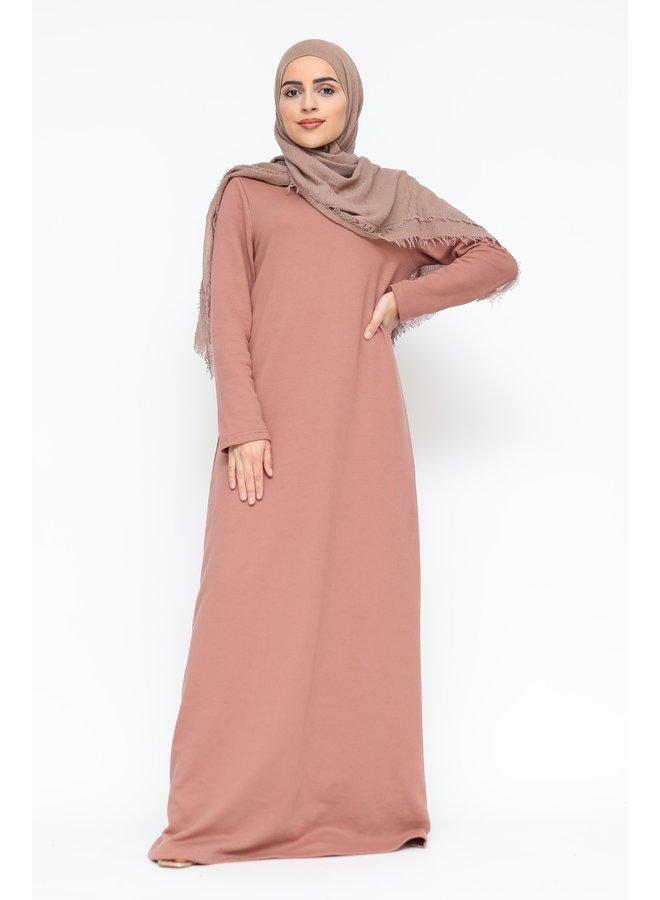 Winter abaya - koraal