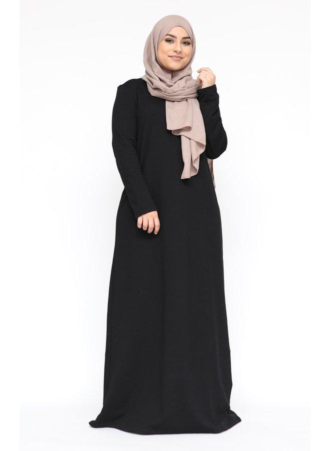 Winter abaya - zwart