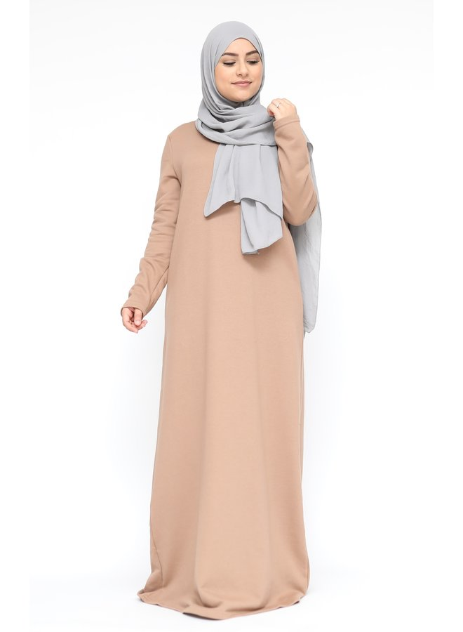 Winter abaya - camel